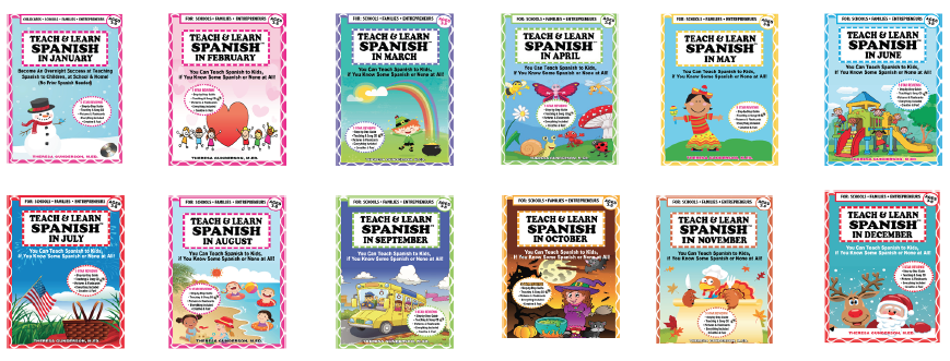 hard copies all 12 months of teach learn spanish january